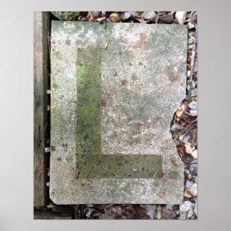 Alphabet Letter L Photography: Poster