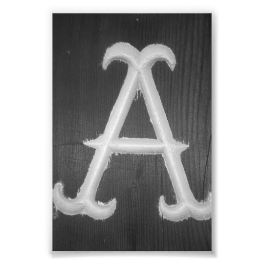 Alphabet Letter Photography A10 Black & White 4x6 Photo