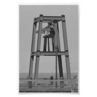 Alphabet Letter Photography A6 Black and White 4x6 Photo Print