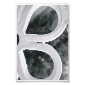 Alphabet letter Photography B4 Black and White 4x6 Photo Print