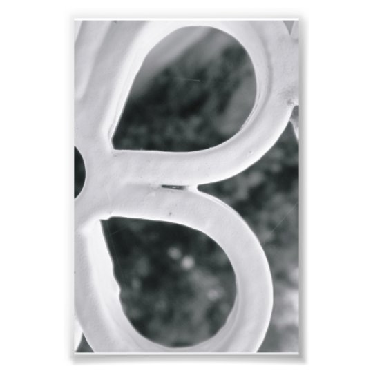 Alphabet letter Photography B4 Black and White 4x6 Photo Print