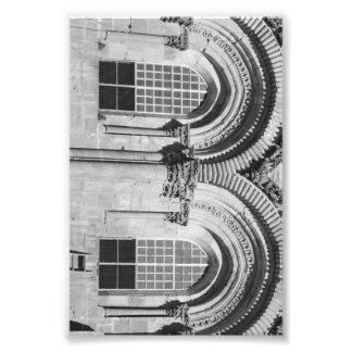 Alphabet Letter Photography B7 Black and White 4x6 Photo Print