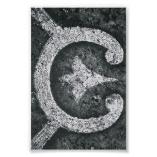 Alphabet Letter Photography C1 Black and White 4x6 Photo Print