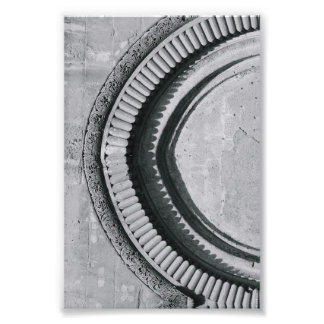 Alphabet Letter Photography C4 Black and White 4x6 Photographic Print