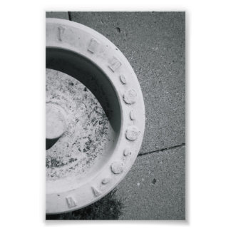 Alphabet Letter Photography D3 Black and White 4x6 Photo Print