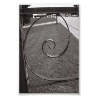 Alphabet Letter Photography E1 Black and White 4x6 Photo
