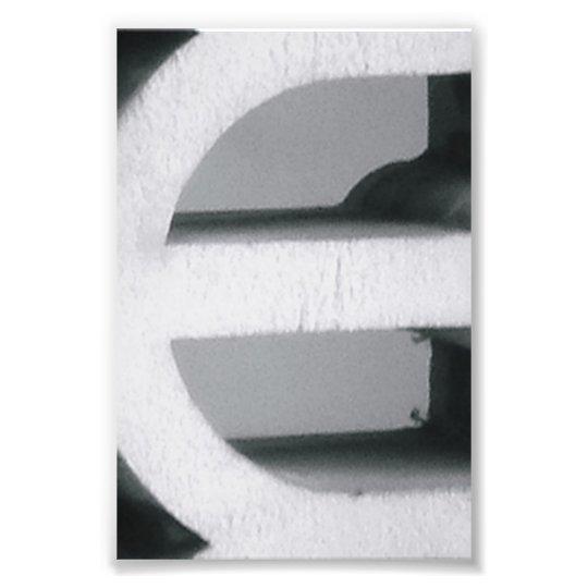 Alphabet Letter Photography E2 Black and White 4x6 Photo ...
