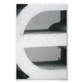 Alphabet Letter Photography E2 Black and White 4x6 Photo Print
