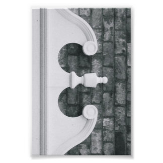 Alphabet Letter Photography E6 Black and White 4x6 Photo Print