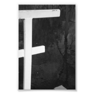 Alphabet Letter Photography F8 Black and White 4x6 Photo Print
