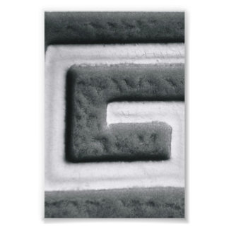 Alphabet Letter Photography G2 Black and White 4x6 Photograph