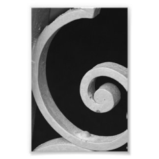 Alphabet Letter Photography G7 Black and White 4x6 Photo
