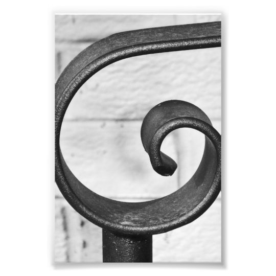 Alphabet Letter Photography G9 Black and White 4x6 Photo Print