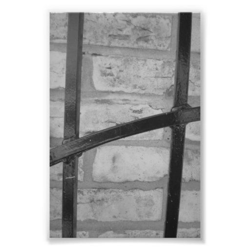Alphabet Letter Photography H4 Black and White 4x6 Photograph