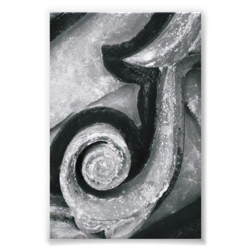 Alphabet Letter Photography J2 Black and White 4x6 Photograph