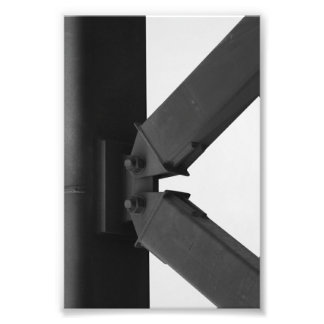 Alphabet Letter Photography K3 Black and White 4x6 Photographic Print