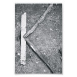 Alphabet Letter Photography K4 Black and White 4x6 Art Photo