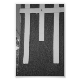 Alphabet Letter Photography M2 Black and White 4x6 Photographic Print