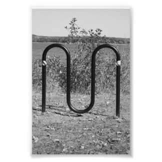 Alphabet Letter Photography M5 Black and White 4x6 Photographic Print