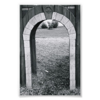 Alphabet Letter Photography N2 Black and White 4x6 Photo Print