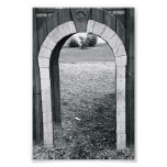 Alphabet Letter Photography N2 Black and White 4x6 Photograph