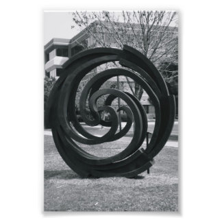 Alphabet Letter Photography O7 Black and White 4x6 Photo Print
