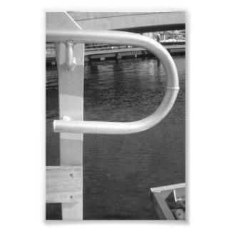 Alphabet Letter Photography P1 Black and White 4x6 Photo Print