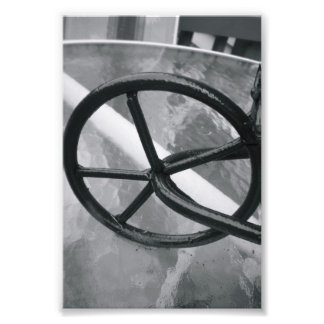 Alphabet Letter Photography Q2 Black and White 4x6 Photo Print