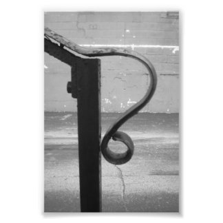 Alphabet Letter Photography R1 Black and White 4x6 Photo Print