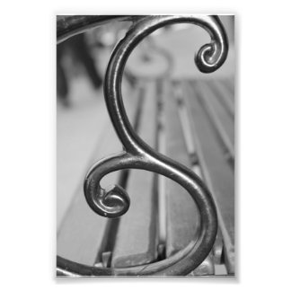 Alphabet Letter Photography S3 Black and White 4x6 Photo Print