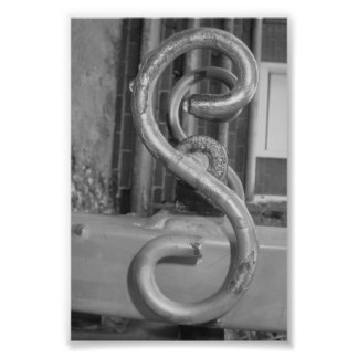 Alphabet Letter Photography S5 Black and White 4x6 Photo Print