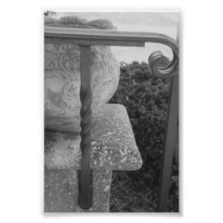Alphabet Letter Photography T1 Black and White 4x6 Photo Print