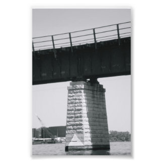 Alphabet Letter Photography T6 Black and White 4x6 Photo Print