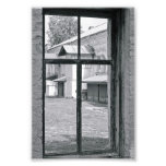 Alphabet Letter Photography T7 Black and White 4x6 Photograph