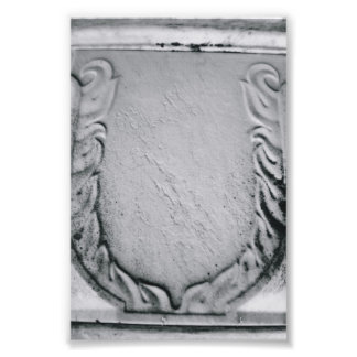 Alphabet Letter Photography U1 Black and White 4x6 Photo Print