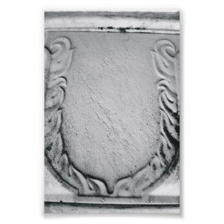 Alphabet Letter Photography U1 Black and White 4x6 Photo Art