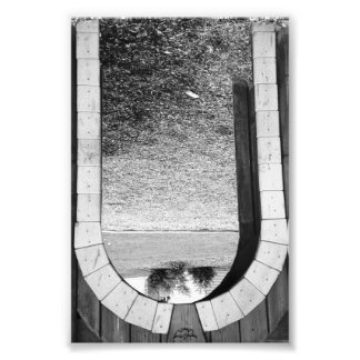 Alphabet Letter Photography U2 Black and White 4x6 Art Photo