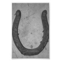 Alphabet Letter Photography U4 Black and White 4x6 Photo Print