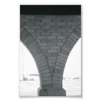 Alphabet Letter Photography V1 Black and White 4x6 Photo Print