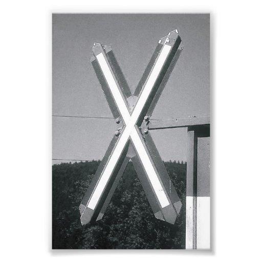 Alphabet Letter Photography X3 Black and White 4x6 Photo Print