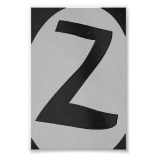 Alphabet Letter Photography Z1 Black and White 4x6 Photo Print