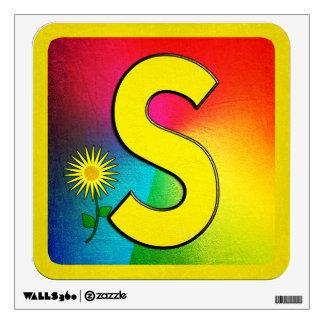 Alphabet Letter S Wall Sticker