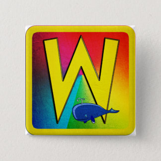 Alphabet Letter W Pinback Button