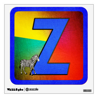 Alphabet Letter Z Wall Decal