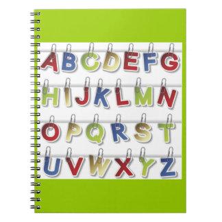 Alphabet Letters (4) Spiral Notebook