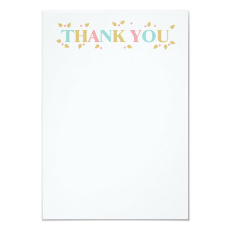 Alphabet Letters Baby Shower Thank You Note Card