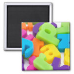 alphabet letters background 2 inch square magnet