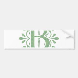 Alphabet letters - letter B - white Bumper Sticker