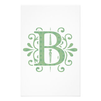 Alphabet letters - letter B - white Stationery