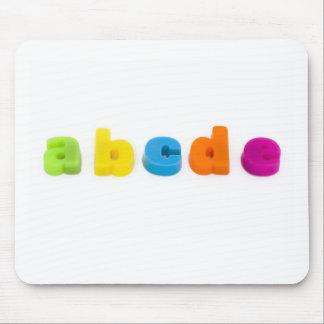 alphabet letters mouse mat